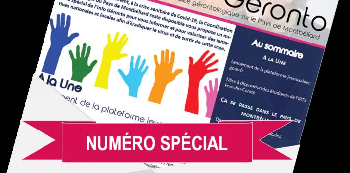 L'Info Géronto, EDITION SPECIALE