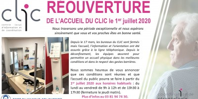 Réouverture de l'accueil du CLIC