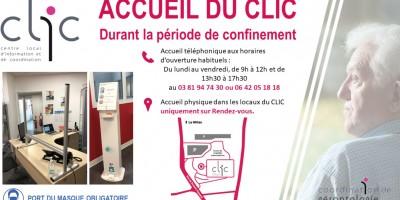 Accueil du CLIC durant le confinement